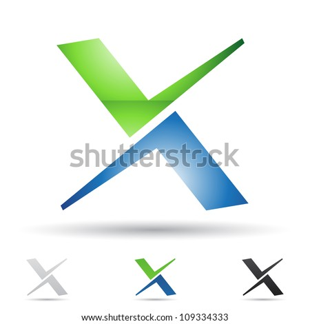 Vector illustration of abstract icons based on the letter X