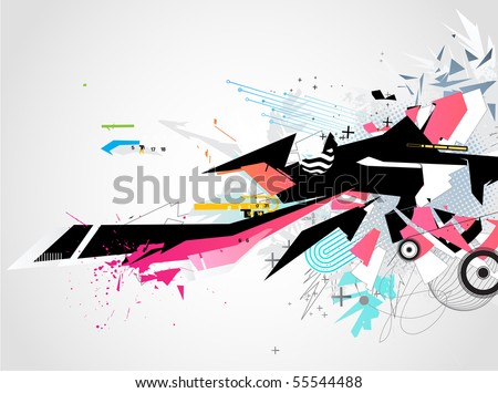 Vector illustration of abstract styled Decorative urban background