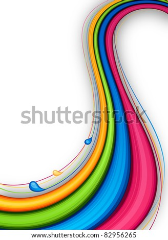 Vector illustration of abstract vibrant background.