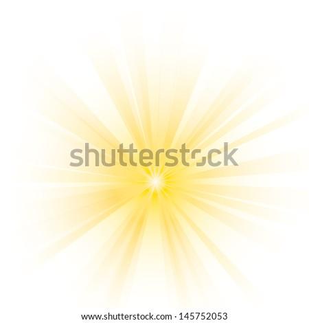 Vector illustration of abstract yellow burst.