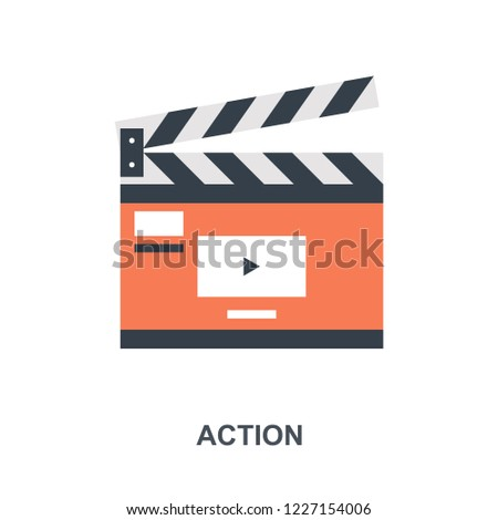 Vector illustration of action flat design concept.