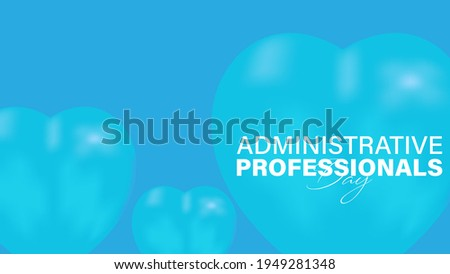 Vector Illustration of Administrative Professionals Day, Secretary Day holiday, celebration, card, poster, logo Сток-фото ©