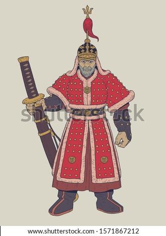 vector illustration of admiral