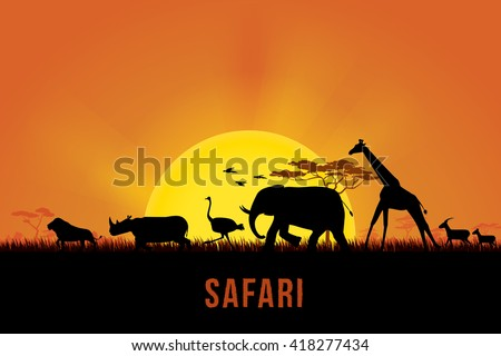 vector illustration of africa