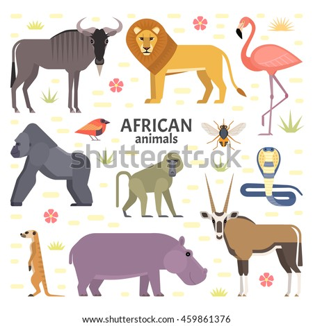 vector illustration of african