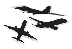 Vector illustration of airplane.