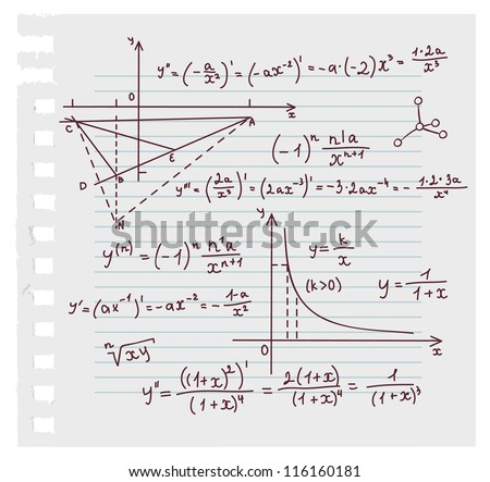 vector illustration of algebra
