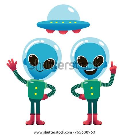 vector illustration of aliens