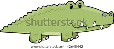 Vector Illustration of Alligator