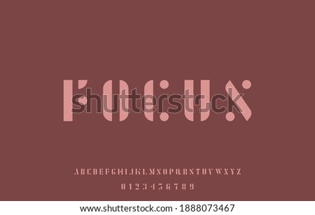 vector illustration of alphabet capital letter a to z font family Stock fotó ©