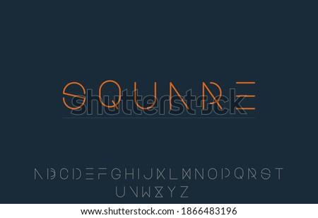 vector illustration of alphabet capital letter A to Z logo design Photo stock ©