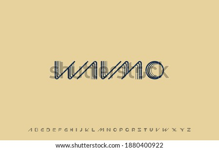 vector illustration of alphabet font family Stok fotoğraf ©