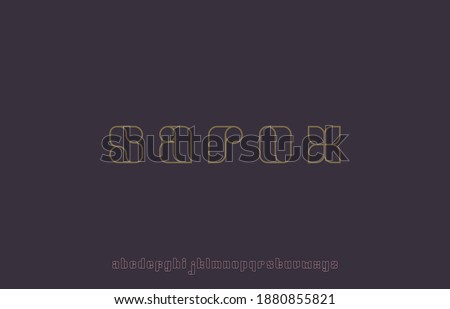 vector illustration of alphabet font family Foto stock ©