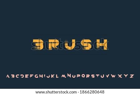 vector illustration of alphabet letter A to Z Stock fotó ©