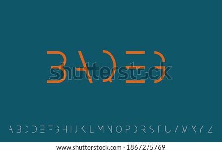 vector illustration of alphabet letter A to Z logo design Stock fotó ©