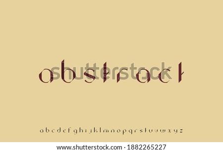 vector illustration of  alphabet small letter font family Foto stock ©