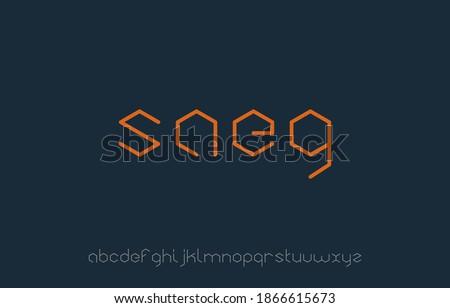 vector illustration of alphabet small letter logo design in hexagon shape Stok fotoğraf ©