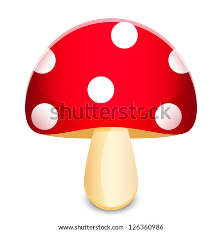 vector illustration of amanita