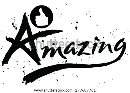 vector illustration of amazing