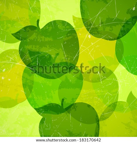 Vector Illustration of an Abstract Background with Apples