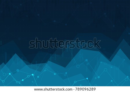 Vector Illustration of an Abstract Background with Graphs. chart of stock market investment trading.