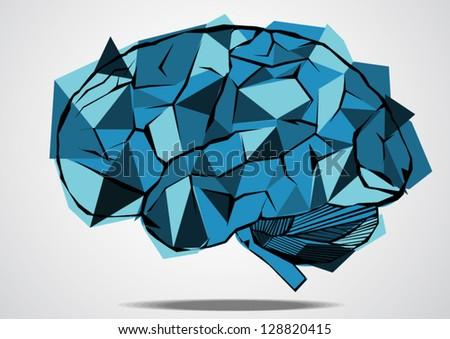 Vector Illustration of an Abstract Brain - stock vector