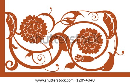 Vector illustration of an abstract floral element
