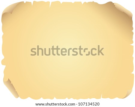 Vector illustration of an aged, old parchment paper. Perfect for website backgrounds, invitations, letters, etc.