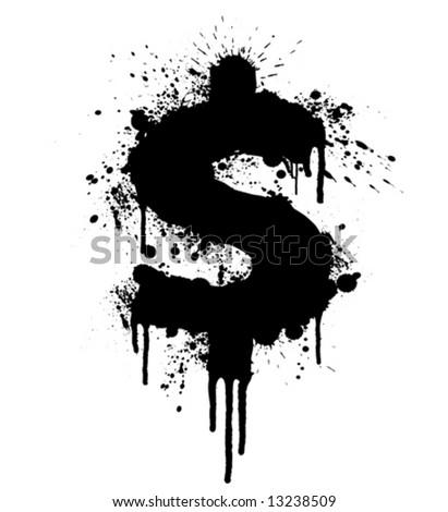 Dollar Design Elements Dollar Splatter Design
