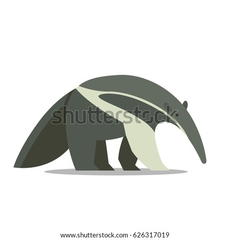 Vector Illustration of an Anteater