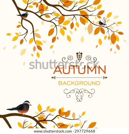 Vector Illustration of an Autumn Design