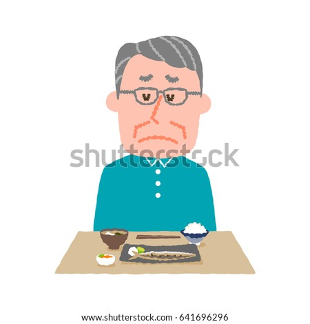 vector illustration of an elder