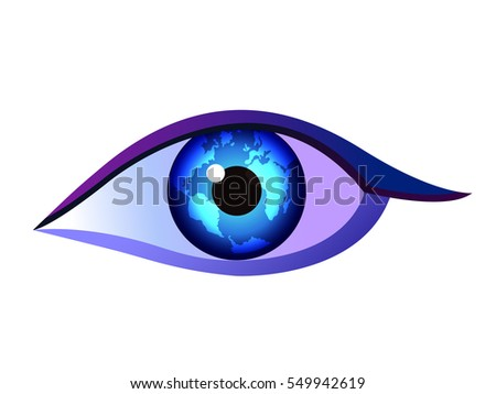 vector illustration of an eye