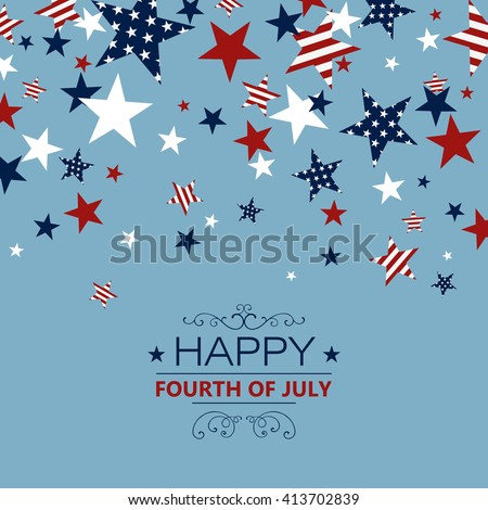 Vector Illustration of an Independence Day Background