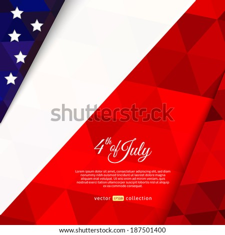 Vector Illustration of an Independence Day. Colors of USA