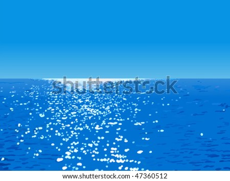 Vector illustration of an ocean landscape