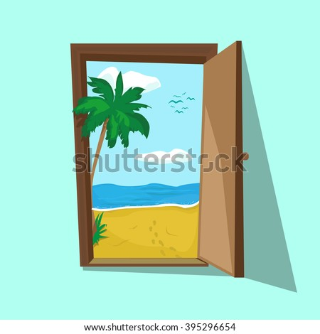 vector illustration of an open...