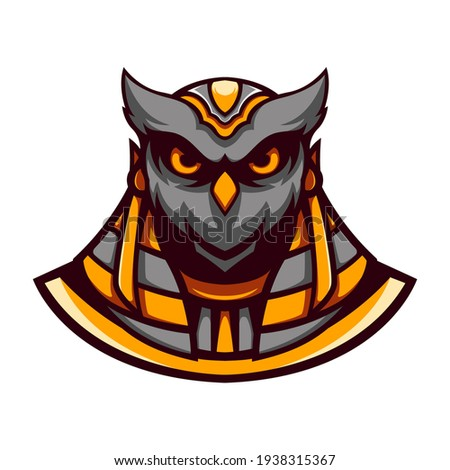 Vector illustration of an owl wearing a costume. Perfect for gaming logo designs, sports, twitches, t-shirt designs, etc.