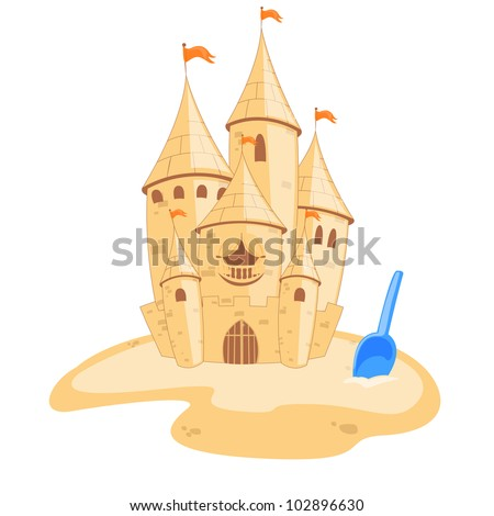 Vector illustration of an sandcastle