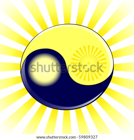 vector illustration of an yin
