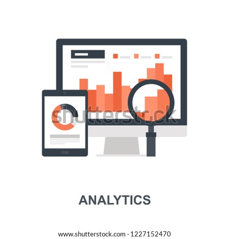 Vector illustration of analytics flat design concept.