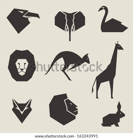 Vector Illustration of Animal Icons
