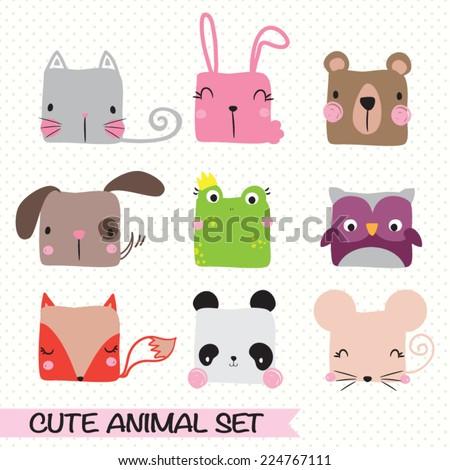 Vector illustration of animal set