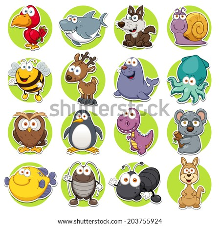 Vector illustration of Animals set Cartoon