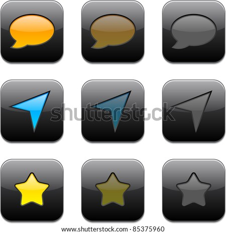 Vector illustration of apps icon set.