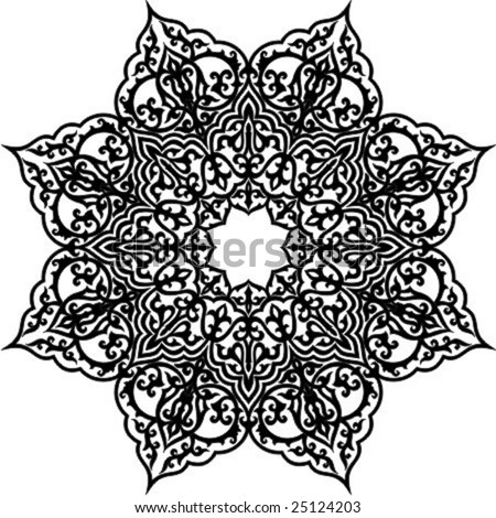 Vector illustration of Arabic geometric ornament