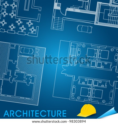 Vector illustration of architectural plan of buildings arangement