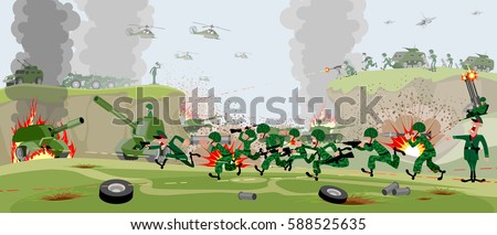 vector illustration of armies