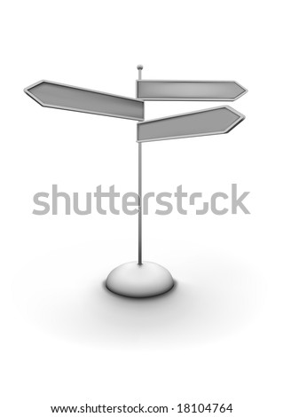 Vector illustration of arrowed direction sign. You can easily change color, put in your own signage text
