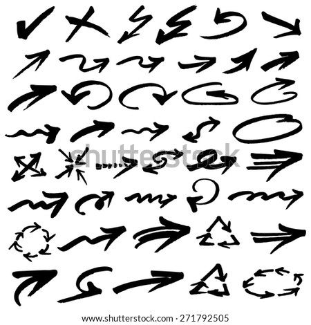 Vector illustration of arrows #271792505